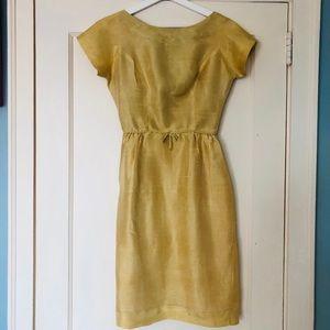 Yellow Mustard vintage dress: